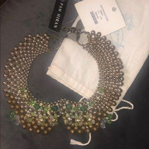 Pam Hiram (Anthropologie) Beaded Color Gold/Green